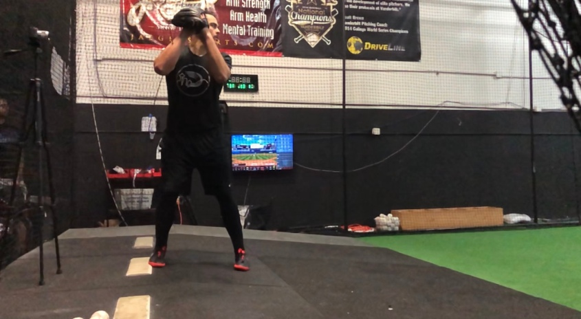 Kevin Kelleher working off the mound at Driveline Baseball.